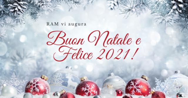 Auguri di buon Natale e felice anno nuovo - chiusura invernale